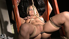 Punishment is the sense of life for horny babe with marvelous cunt