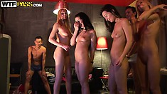 Hanging out with hot college sluts, watching them get naked and dance