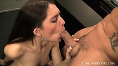 Zarena Summers sucks his cock and tongues his anal hole before he bangs her cunt