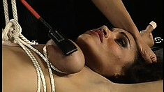 Smoking hot ebony babe gets some rough love from her Dominatrix