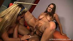 Stud Pike Nelson gets to plow two lovely young girls' tight slits