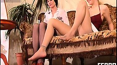 Smart and funny dark-haired babe Ottilia has wild ride with passionate Rosaline