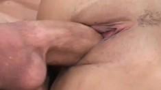 Nubile chick Kat loves taking a huge cock deep up her sphincter