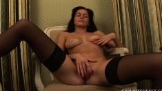 Charming young brunette Andrina has a tight pussy longing for pleasure