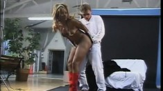 Honey haired ebony vixen Violet Doll goes home with her white man
