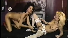 Kinky Candy gets nasty on Mila's asshole with a massive sex toy