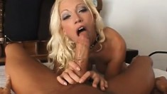 A filthy blonde with a soaking wet pussy needs some dick inside her