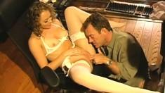 Sensual blonde Mariah Cherry has Randy Spears deeply fucking her holes