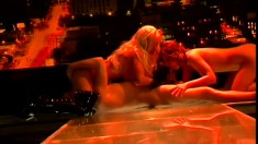 Alluring strippers beg for more as a big hard dick nails their holes