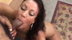Naughty secretary with big boobs and a hot ass Vanessa fulfills her office fantasies