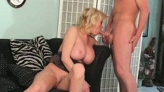 Carolyn Monroe Is a MILF with big tits and she uses them to get guys
