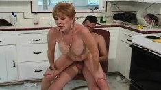Experienced lady Diana bends over to take a throbbing cock from behind