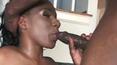 Jackeline gets her pretty black snatch opened up by Byron Long