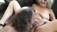 Mature blonde spreads her legs for a proud and relentless prick