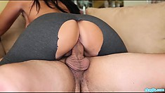 Mesmerizing brunette with a perfect booty Ava Alvarez loves a big cock