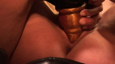 Sheila Marie is getting strapon fucked by her lesbian girlfriend