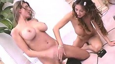 Kianna and Shay crazy toy fucking making their pussies all frothy