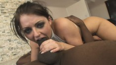 Irresistible milf Sophie Dee works her anal hole on a huge black dick