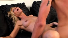 Nicole Moore has a younger guy devouring and hammering her needy cunt