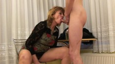 Insatiable Blonde Milf Una Has A Younger Guy Fulfilling Her Desires