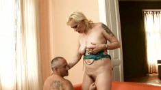 Kinky blonde mature with saggy boobs Violett is longing for pleasure