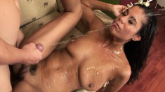 Hung stallion loves getting a blowjob from a naughty starlet