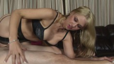 Sensuous Blonde Masseuse With Big Boobs Knows Her Way Around A Cock