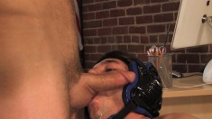 Enticing gay lovers relish an explosion of hard anal sex in the office