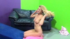 Skinny Blonde Channel Rae Screws And Goes Doggy Style With Cum On Her Ass