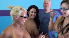 Jacky Joy, Lylith LaVey and Nikki Sexx take on black and white cocks