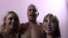Striking Babes Ava Devine And Alexis Monroe Getting Drilled Together