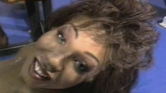 Buxom lady Yolanda gets her holes worked out by a group of black guys