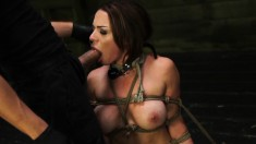 Submissive nympho with big boobs Kylie Rogue is aching for hard meat
