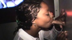 Dark Skinned Gloryhole Babe Natalie Reveals Her Passion For Hot Jizz