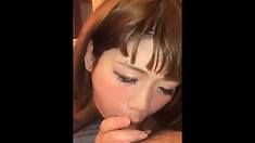 Lucky Guy Gets Licked Then Fucks Two Pretty Asian Girls
