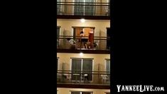Public sex on the balcony