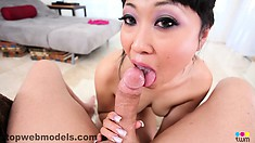 Yuki Mori he grabs her head and face fucks her, making her moan
