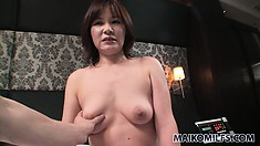 Sultry Asian Cougar With Big Natural Tits And A Sexy Ass Feeds Her Passion For Cock