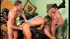 Horny military guys with awesome bodies enjoy lots of sucking and fucking