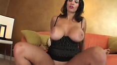 Persia is a stacked brunette MILF that likes to back her ass up in POV style