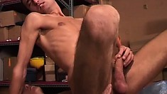 Young skinny guys give each other a raw and deep ass-pounding