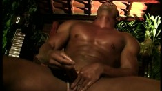 This Latin stud won't stop jerking it until his balls are empty