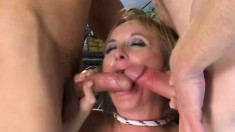 Nasty MILF Monika wants to be used like a slut by two big cocks