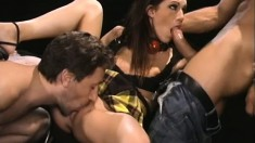Taylor Rain gets a rough double penetration that makes her cum