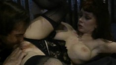Fiery redhead Sarah Jane Hamilton getting banged hard by Mike Horner