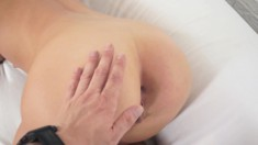 Sweet babe with a slim body gets fucked on camera for the first time