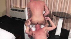 Chad Brock lays his freaky hairy cock into Ray Boy's tight ass