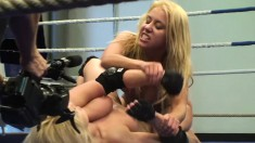 They wrestle, they tussle and jam a dildo up a lovely butthole