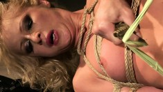 Irresistible blonde Jasmin explores her lust for bondage and pleasure