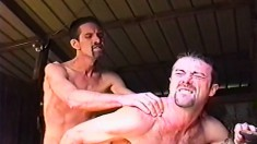 Horny Gay Stud Gets His Narrow Anal Hole Pounded Rough In The Barn